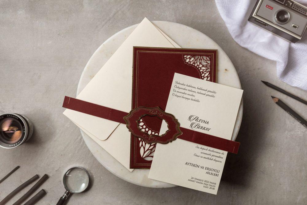 Luxus Hochzeitskarte Lasercut Halter